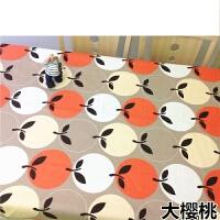 细帆布布料加厚2.4米宽幅老粗布床单沙发桌布窗帘棉麻面料定制 桔色 大樱桃