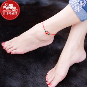 凤凰涅磐脚链女 红绳镀金件简约个性时尚原创手工复古民族风饰品