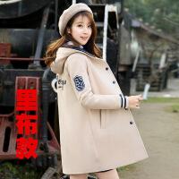秋冬装外套新款春秋季卫衣少女中长款加厚女初中学生韩版风衣