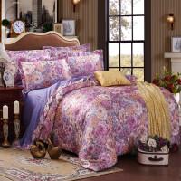 家纺欧式床上用品棉四件套彩棉提花欧美风四件套传单被套