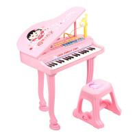 儿童电子琴麦克风女孩玩具 早教益智3-6岁音乐小孩宝宝钢琴 f8a