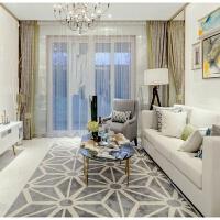 现代简约几何地毯客厅茶几沙发地毯卧室样板间抽象地毯 如图-42