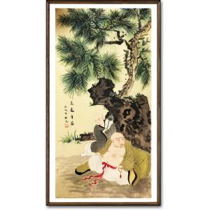陆伟光《逍遥自在》著名人物画家