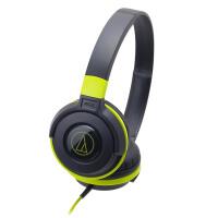 铁三角(Audio-technica)ATH-S100 HIFI重低音便携头戴式音乐耳机;佩戴方式>>入耳式 黑绿色