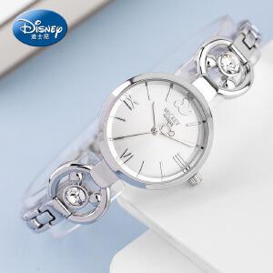 正品迪士尼手表手链表女生石英表韩版潮流时尚2017新款女学生手表W
