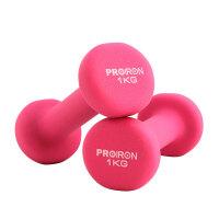 哑铃健身器材 彩色浸塑磨砂哑铃1,2,3,4,5KG公斤 女男士 粉色 两只装共2KG单只1KG 特别说明,哑铃较重,
