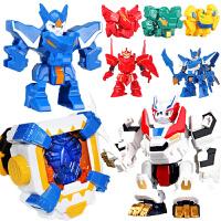 超变武兽儿童玩具一键手动变形机器人泰戈人偶手表召唤器