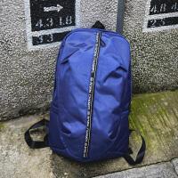 校园潮流高中学生初中电脑包运动包女韩版轻便大容量背包男双肩包 蓝色 收藏下单送险