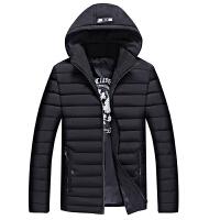 冬季男士运动棉衣可脱卸帽短款羽绒男学生休闲小棉袄外套