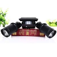 太阳能路灯 双头望远镜射灯 家用人体感应庭院灯 太阳能发电系统灯