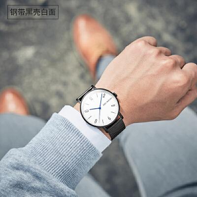 时尚男士全自动机械表男表精钢户外防水简约韩版潮流学生运动手表 品质保证 售后无忧 支持货到付款