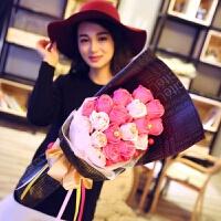 七夕礼物香皂玫瑰花束创意惊喜特别的女生日礼物情人节送女友朋友情侣老婆 款式1