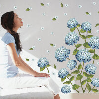 宜美贴 紫色心语 客厅卧室背景墙浪漫装饰可移除背景墙贴纸