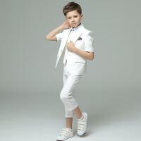 儿童演出服小孩休闲男童礼服 男童西装套装夏短袖韩版六一合唱表演
