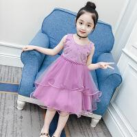 女童连衣裙夏装新款童装儿童纱裙洋气背心公主裙女孩网纱裙子