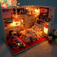 【支持礼品卡】diy手工3d木质立体拼图房子小屋儿童玩具拼装模型生日礼物女j3w
