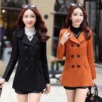 毛呢大衣女装冬装短款韩版2017新款反季秋冬季小个子女士呢子外套