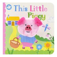Little Learners This Little Piggy 这只小猪 经典童谣指偶玩具书 宝宝英语启蒙早教迷你