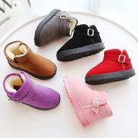 儿童雪地靴男童棉鞋童短靴子秋冬棉鞋