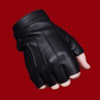 半指手套男女开车露指半截战术手套特种兵半指皮手套男冬