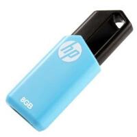 [大部分地区包邮]HP惠普 v150w u盘8g 16g 32g 64g u盘创意伸缩推拉式防水便携天蓝色 优盘 8G