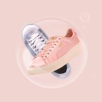 【网易考拉】PUMA 彪马 Basket Platform Satin丝绸松糕粉色女子运动板鞋365719-01