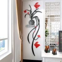水晶亚克力3d立体墙贴画客餐厅背景墙玄关房间墙面壁个性装饰品贴