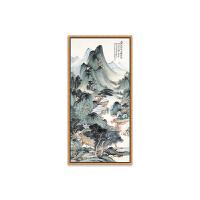 新中式客厅装饰画 餐厅花鸟国画玄关竖版挂画山水沙发背景墙 壁画