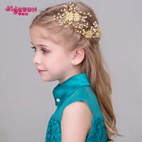 新款儿童头饰女童饰品韩版珍珠发夹发饰 儿童礼服配饰头饰