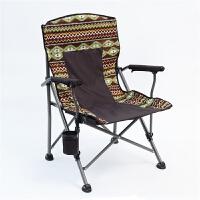 户外休闲折叠椅子 自驾游沙滩露营便携钓鱼椅 午休椅扶手椅靠背椅
