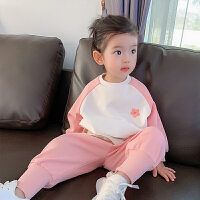 女童宝宝运动休闲套装中小儿童时髦春秋装