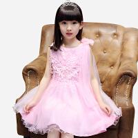 女童连衣裙夏装韩版中大童时尚公主裙新款百搭无袖童装网纱裙