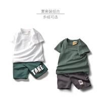 童装男童套装短袖短裤中大童儿童男孩夏装