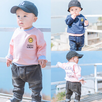 蓓莱乐婴童装男宝宝春装4外套装1婴儿卫衣服0洋气1岁春秋夏季