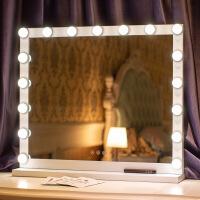 物有物语 实用摆件 台式大号led化妆镜带灯高清梳妆镜补光镜家用结婚好莱坞爆款镜子