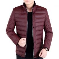 中年羽绒服男新款冬季加厚修身外套休闲轻薄短款保暖爸爸装潮