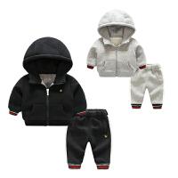 女婴儿衣服7个月2男宝宝长袖洋气套装新生儿冬季装