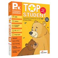 Evan-Moor Top Student Grade PreK 美国加州教辅优等生系列英文原版进口练习册 幼儿园小中