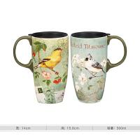马克杯子陶瓷杯咖啡杯茶杯大容量创意潮流水杯带盖带勺