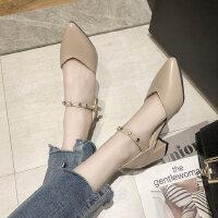 户外潮时尚女士凉鞋休闲百搭中跟鞋气质舒适女鞋