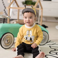 本印苏拉 儿童卫衣18春秋新款圆领套头长袖卡通婴儿T恤热销个性潮童装