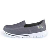KELME卡尔美 K16X503 男式运动豆豆鞋 网面透气健步鞋 轻便休闲懒人鞋
