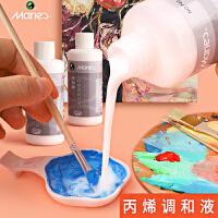 马利丙烯颜料专用调和液100ML液态流体绘画助流材料美术用品中稀释剂媒介光泽度增加耐晒度
