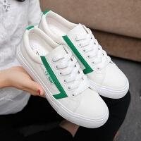 匡王2017秋季新款韩版女鞋白色帆布鞋女系带平底板鞋小白鞋学生休闲鞋