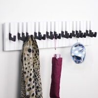 创意钢琴键盘琴键木质挂钩墙饰衣帽衣服挂架挂衣钩隔板壁挂饰儿童