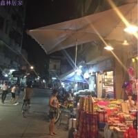大太阳伞户外摆摊伞3米遮阳伞折叠四方伞 斜坡雨伞沙滩广告伞定制