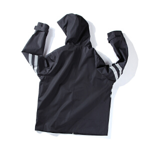 【限时抢购到手价:139元】AMAPO潮牌大码男装秋季胖子肥佬加肥加大码宽松连帽加厚夹克外套
