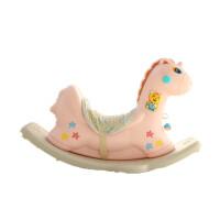 宝宝摇椅音乐木马摇摇马大号加厚儿童玩具1-6周岁礼物 呆呆鹿可爱粉(版) 独角天使