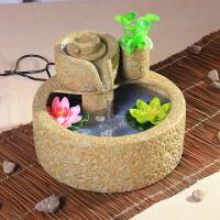 陶瓷喷泉流水摆件加湿器家居加湿器客厅办公室客厅装饰品摆设风水轮球鱼缸水景摆件
