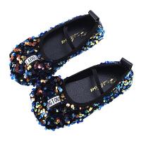 女童皮鞋小女孩�和�公主鞋子�底豆豆鞋中大童